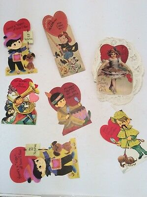 Lot of 7 Vintage Valentine's Day cards
