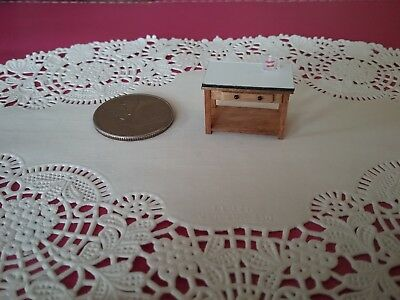 Quarter Scale, 1/4, 1:48 Wood Prep Table Handcrafted