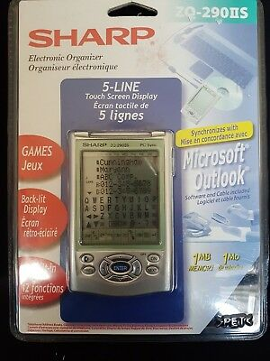 Sharp Electronic Organizer ZQ-290IIS, 1 MB Memory, Touch Screen SEALED
