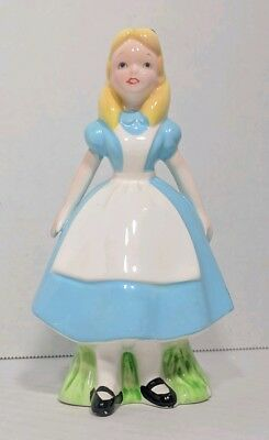 "Vintage Walt Disney Classic Alice In Wonderland 6"" Porcelain Figurine Japan Made"