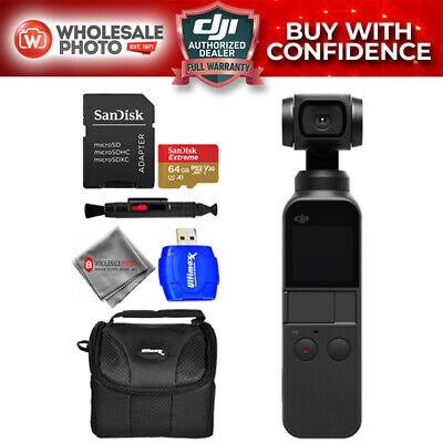 DJI Osmo Pocket Handheld Camera 3 Axis Gimbal Stabilizer 4K On the Go Bundle