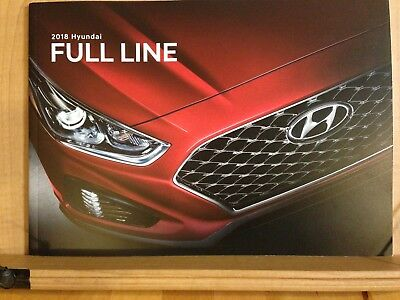 2018 HYUNDAI FULL LINE Original Sales Brochure