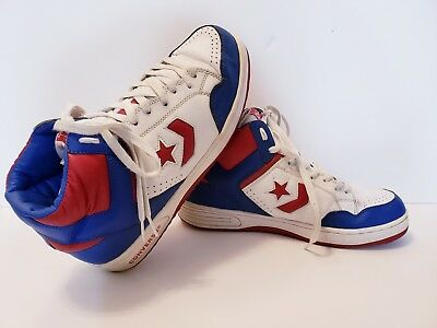Vintage Converse Weapon Mens Basketball Shoes Size 11 Red White Blue