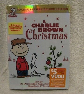 A Charlie Brown Christmas DVD 2014 2-Disc Set 50th Anniversary DELUXE edition