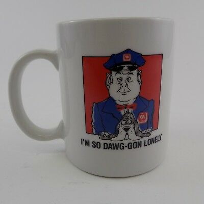 Maytag Coffee Cup Mug Maytag Man I'm So Dawg-gon Lonely Advertising White 12oz