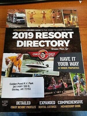 Coast To Coast Deluxe with RPI and AOR Membership No Annual Home Park Fee
