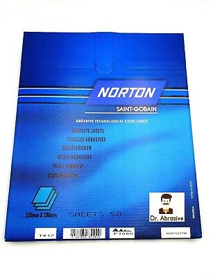 WET AND DRY SANDPAPER NORTON BLACK ICE Grit 240-2000 Waterproof TOP QUALITY