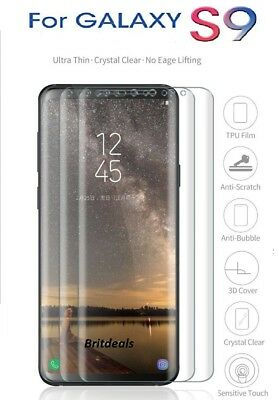 For Samsung Galaxy S9 Full Curved Tempered Glass LCD Screen Protector Clear