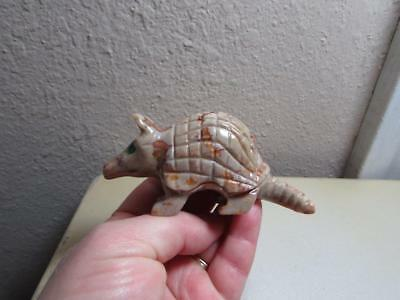 Armadillo, Solid stone Hand carved Marble from the Andes Unique Stone Armadillo