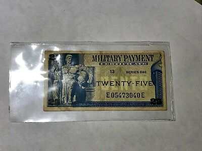 Military Payment Certificate - Series 692 - Twenty-Five 25 Cents -