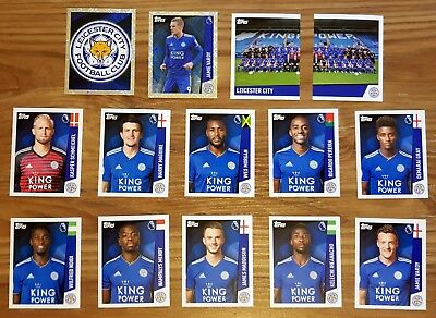 Merlin Premier League Stickers 2019 All 14 Leicester City Stickers - Team Set