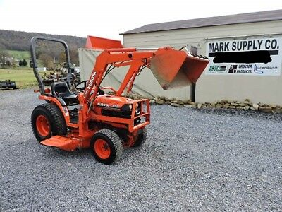 2004 Kubota B7500 Sub compact Tractor Loader Belly Mower 4X4 Diesel 3 Point PTO!