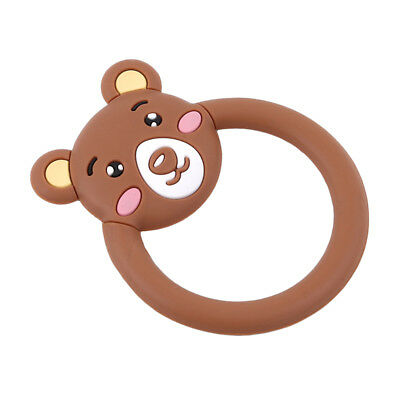 Animal Bear Elephant Teething Pendant Silicone Safety Developmental Gift D