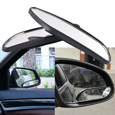 2x 360° Wide Angle Convex Rear Side View Blind Spot Mirror Universal fit Car