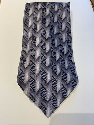Louis Roth 100% Silk Tie | Gray, Black and Gold |Used Great condition.