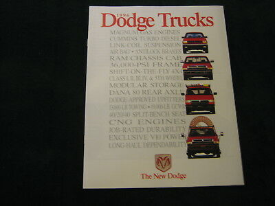 MINT 1996 DODGE TRUCKS DEALER SALES BROCHURE~ Dakota, Ram, ~ #854