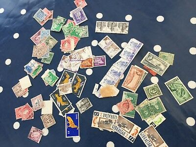 Gibraltar Ireland a lot of stamps off paper direct from estate ideal sorter