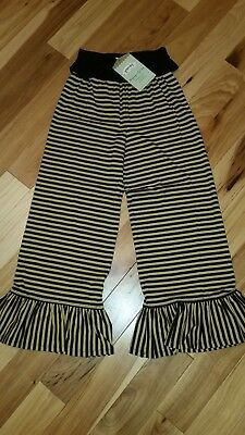 NWT Persnickety Holiday Tan/Black Stripe Bell Pants Girl's size 7