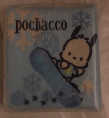 Sanrio 1989, 2000 Copyright Pochacco CD Holder Case soft vinyl Blue RARE Sealed