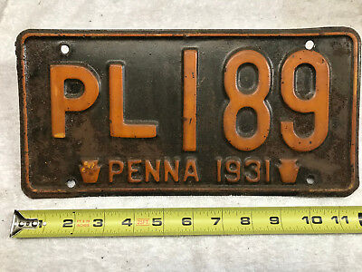 1931 Pennsylvania license plate