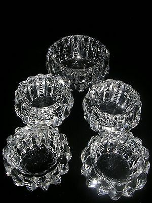 Antique Cut Glass Master Salt And Four Individual Salts.