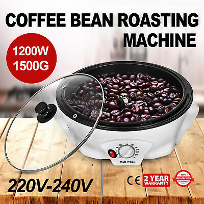 Automatic Coffee Bean Roaster Machine Home Kitchen Roller Baking Tool 110V