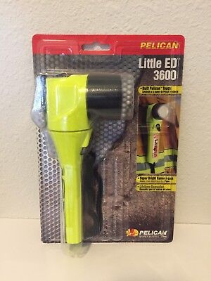 New Pelican 3600 Little Ed Yellow Flashlight