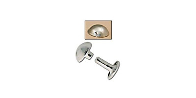 Tandy Leather Domed Rivets 7mm Nickel Plated 100/pk 11320-12