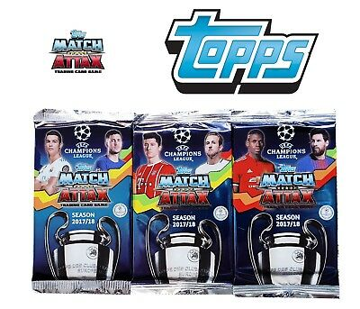 UEFA Champions League 17/18 2017/2018 match attax cards 9 card packet
