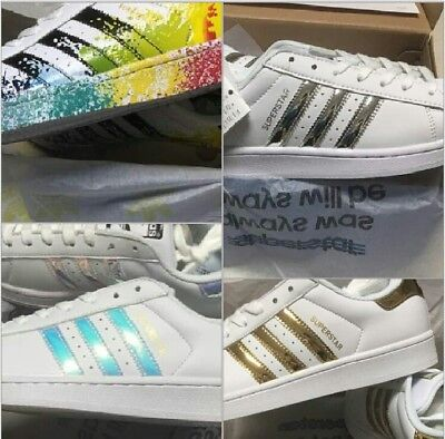 SCARPA SUPERSTAR ADIDAS Originals C77124 Bianco Nero Uomo Donna ... 445c6029ed7