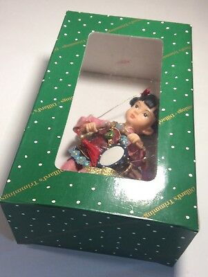 Dillards Ceramic/resin Chinese Doll Christmas Ornament