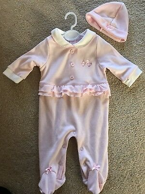 Baby Girl Baby Grow And Hat 0-3