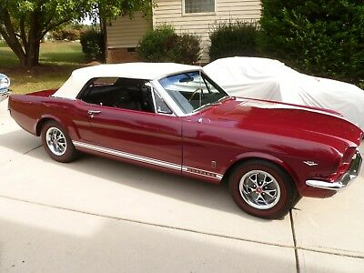 1966 Ford Mustang Convertible 4-Speed, A/C, P/S, Disc Brakes 1965 Mustang,SEE VIDEO, V-8, 4-speed, a/c ,p/s, disc brake, Rally-pac,GT wheels,