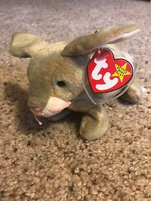 Ty Beanie Baby Easter Special Nibbly The Bunny Rabbit Rare Retired GASPORT ERROR