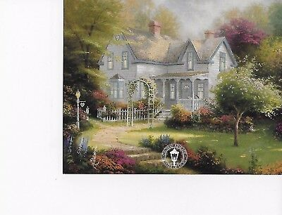 1996 Thomas Kinkade dealer preview card Home is Where the Heart is II