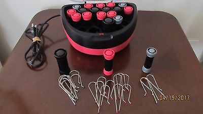 Remington Hot Rollers Model H5600D 20-Piece w/ 20 Clips Red and Black