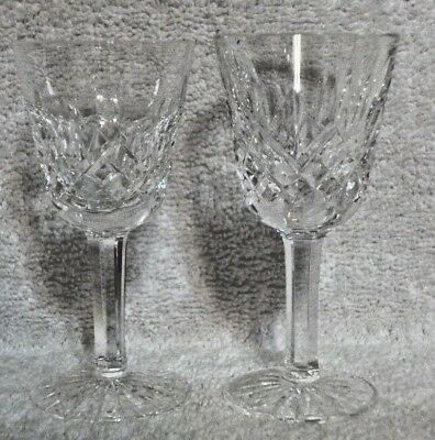 """Set of 2 Waterford Crystal Lismore Small Liqueur Cocktail/Cordial 3 1/2"""""""