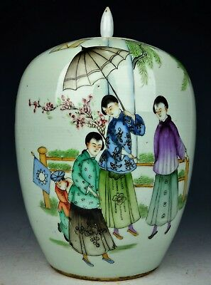 Chinese Antique Famille Rose Porcelain Jar Early 20th Century Republic of China