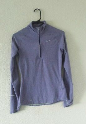 Nike Dri-Fit Running Element 1/4 Zip up Pullover 321646-552 women's size XS