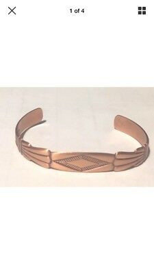 NORDIC STYLE BANGLE SOLID COPPER Internal 6.8cm x 4cm