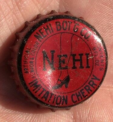 NEHI Imitation Cherry Cork Liner Soda RED Bottle Cap