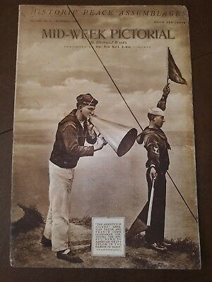 New York Times Mid-week Pictorial World War 1 Magazine Antique 1918 History