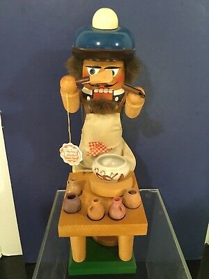 "15"" Vintage STEINBACH Nutcracker POTTER Pottery MAKER  w TAG GREAT  80s"
