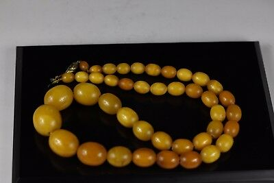 20th century, A beautiful amber necklace,Chinese antique