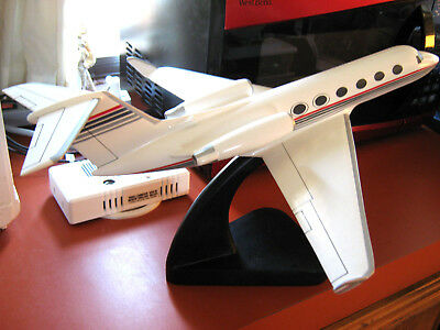 """Mint"" Huge Gulfstream Business Jet Airplane Desk Model Office Handmade of Wood"