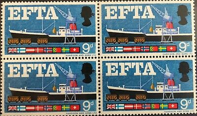1967 European Free Trade Association (EFTA) Block of 4 - Mint