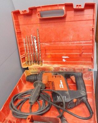 Hilti TE 5 Rotary Hammer Drill With Case used with writing tested concrete/steel