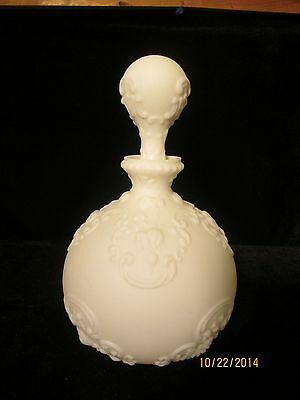 Antique Victorian Dithridge Milkglass Cologne Decanter Circa 1880-1890
