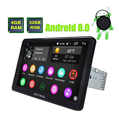 JOYING Car Stereo Android 8.0 4GB + 32GB Octa Core 10.1 inch Single Din in-Dash