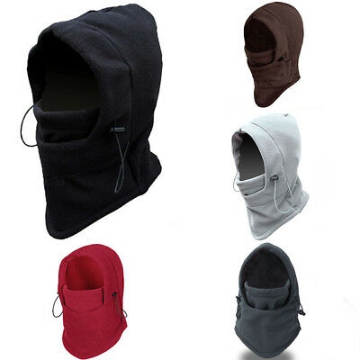 Thermal Fleece Balaclava Ski Running Cycling Neck Face Mask Cover Hood Hat Cap